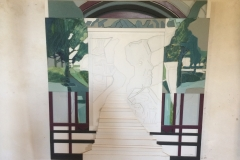 Resan 2, trärelief. 120x130cm